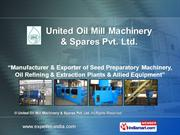 Oil Filtration Equipment By United Oil Mill Machinery & Spares Pvt. Lt