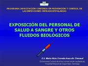 Exposicion del personal de salud a fluidos riesgo