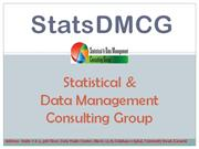 Statistical & Data Management Consulting Group