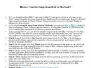 How to Transfer Songs from iPod to Macbook