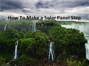 how to make solar panel