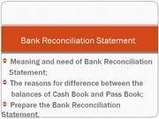 BANK RECONCILIATION STATEMENT             Presented by CMASHIBU