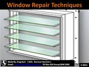 Window Repair Techniques