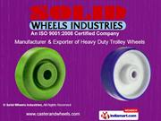 Uhmwpe Wheels For Textile Industry By Solid Wheels Industries