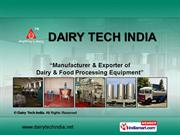 Milk Storage Equipments By Dairy Tech India Pune