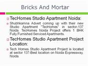 call@09560092570, techomes studio apartment noida