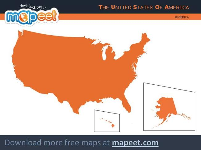 Free Map for Powerpoint - USA |authorSTREAM