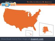 Free map for Powerpoint - USA
