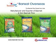 Basmati Rice By Bansal Overseas Karnal