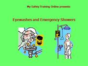 use of the emergency eye wash