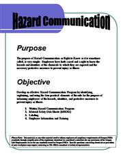 OSHA HAZCOM safety program