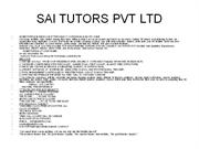 SAI TUTORS PVT LTD