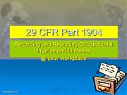 compliance with OSHA reporting standard