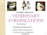 Veterinary Dosage Forms