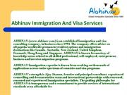 Immigration Visas Information in India