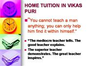 VIKAS  Home Tuition By The Sai Career -Crafters (Since:1986)@ 98685202