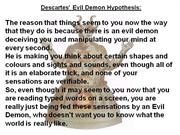 descartes evil demon