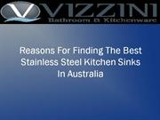 Reasons For Finding The Best Stainless Steel Kitchen Sink In Australia