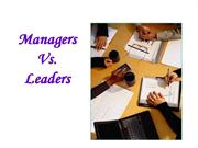 Managers Vs[1].Leaders