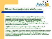 Immigration-Visas-Information-India-PPT