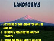 Landforms Valleys-Spurs