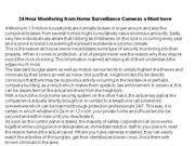 24 Hour Monitoring from Home Surveillance Cameras a Must have