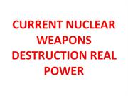 nuclear weapons destruction real power
