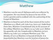 Matthew - What�s in a name