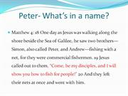 Peter- What�s in a name