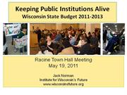Wisconsin's Future - a town hall presentation