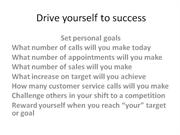 Drive yourself to success