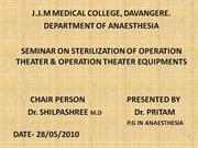 Sterilization of OT