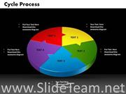 5 Staged Colorful Business Diagram