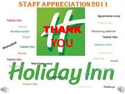 STAFF APPRECIATION 2011