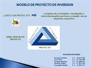 MODELO DE PROYECTO DE INVERSION
