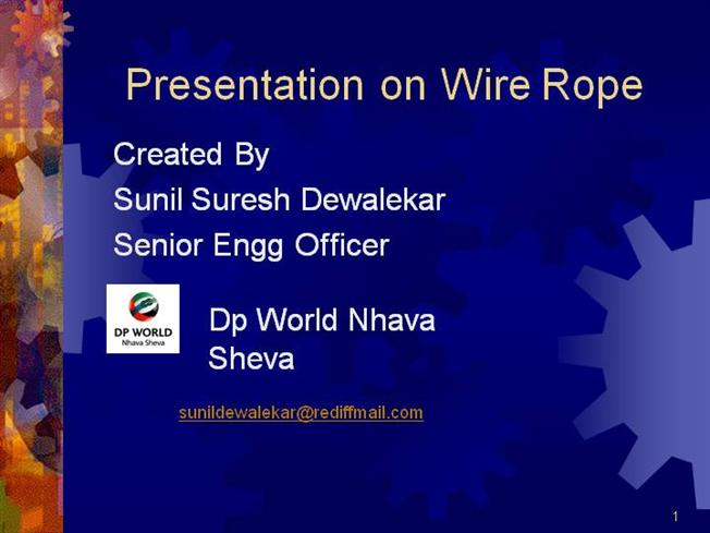 Ppt Wire Rope |authorSTREAM