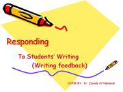 Responding to students' writing