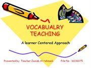 VOCABUALRY TEACHING