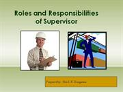 roles & responsibilities of supervisor