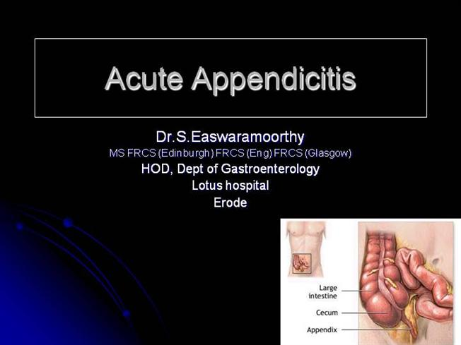 03. Appendicitis dr phillip bmc.