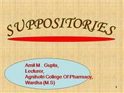 SUPPOSITORIES PPT