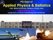Applied Physics & Ballistics Dept.