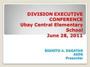 DIVISION EXECUTIVE CONFERENCE june 28 2011