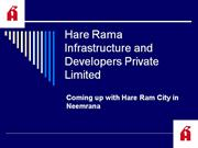 Hare Rama Infrastructure and Developers Private Limited