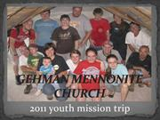 gehman mennonite church youth group service project 2011