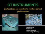 OPERATION THEATRE  INSTRUMENTS