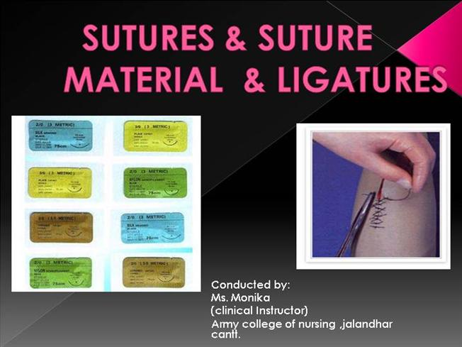 Chapter 7: sutures, needles, and instruments ppt download.