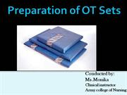 Preparation of OT sets