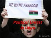 Political Unrest In Libya