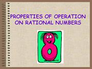 PROPERTIES OF OPERATION ON RATIONAL NUMBERS